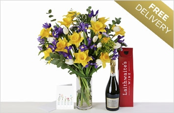 Bubbles and Blooms Bouquet - Free delivery
