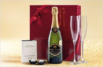 Champagne, truffles and Dartington flutes