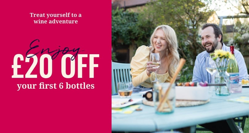 £20 off 6 bottles when spend over £55