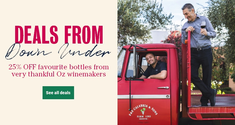 Deals From Down Under - 25% OFF favourite bottles from very thankful Oz winemakers - See all deals