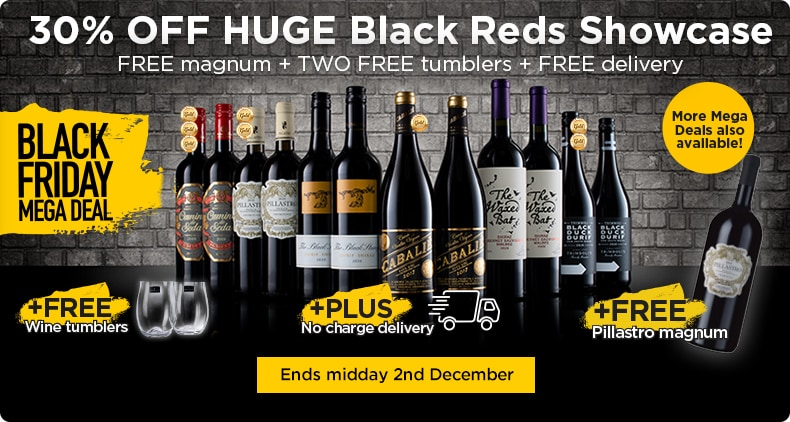 Black Friday Mega Deals - FREE magnum + TWO FREE tumblers + FREE delivery