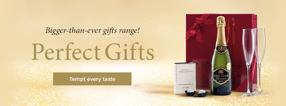Bigger-than-ever gifts range! Perfect Gifts. Tempt every taste