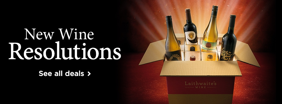 New Wine Resolutions. A box full of wines