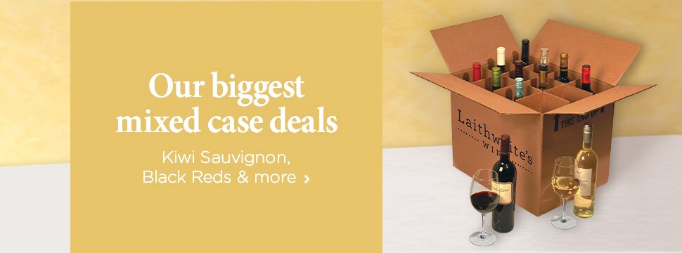 Our biggest mixed case deals – Kiwi Sauvignon, Black Reds and more - Stock up here