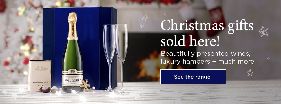 Christmas gifts sold here! - Beautifully presented wines,luxury hampers + much more