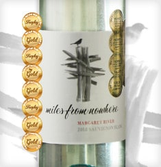 Miles From Nowhere Sauvignon Blanc 2018 with medals