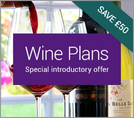 Wine Plans. Special introductory offer. SAVE over £30.