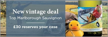 New vintage deal Top Marlborough Sauvignon - £30 reserves your case