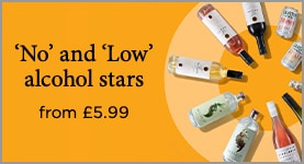 'No' and 'Low' alcohol stars from £5.99