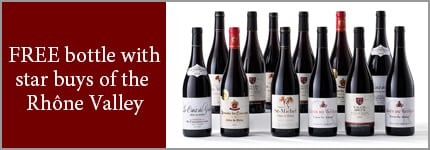 FREE bottle with star buys of the Rhone Valley