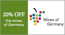 20% OFF the wines of Germany