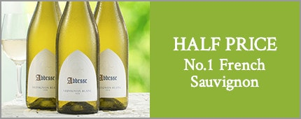 HALF PRICE No.1 French Sauvignon - 3 bottles of Abbesse Sauvignon Blanc 2018