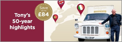 Tony's 50-year highlights. Save up to £84. Tony with van.