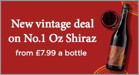 New vintage deal on No.1 Oz Shiraz - From £7.99 a bottle