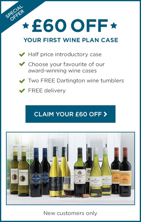 £60 OFF YOUR FIRST WINE PLAN CASE