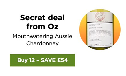Secret deal from Oz mouthwatering Aussie Chardonnay - Buy 12 - SAVE £54