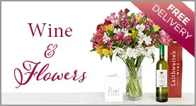 Wine and flowers. Pretty in Pinot bouquet.