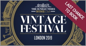 The Sunday Times Wine Club Vintage Festival 2019 - LAST CHANCE TO BOOK