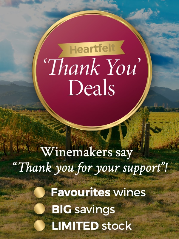 "Heartfelt Thank You Deals Winemakers say ""thank you for your support""!"