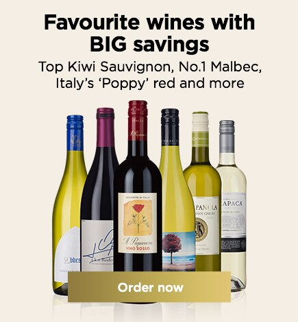 Favourite wines with BIG savings Top Kiwi Sauvignon, No.1 Malbec, Italy's 'Poppy' red and more From JUST £6.99 a bottle,