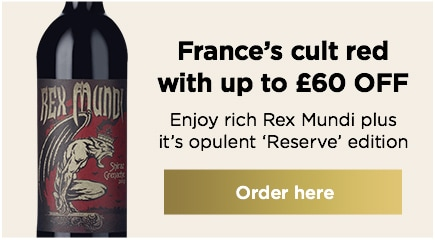 France's cult red with up to £60 OFF Enjoy rich Rex Mundi plus it's opulent 'Reserve' edition