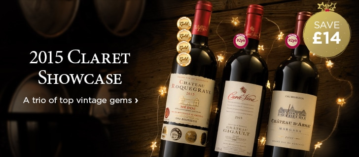 2015 Claret Showcase - A trio of top vintage gems - save £14