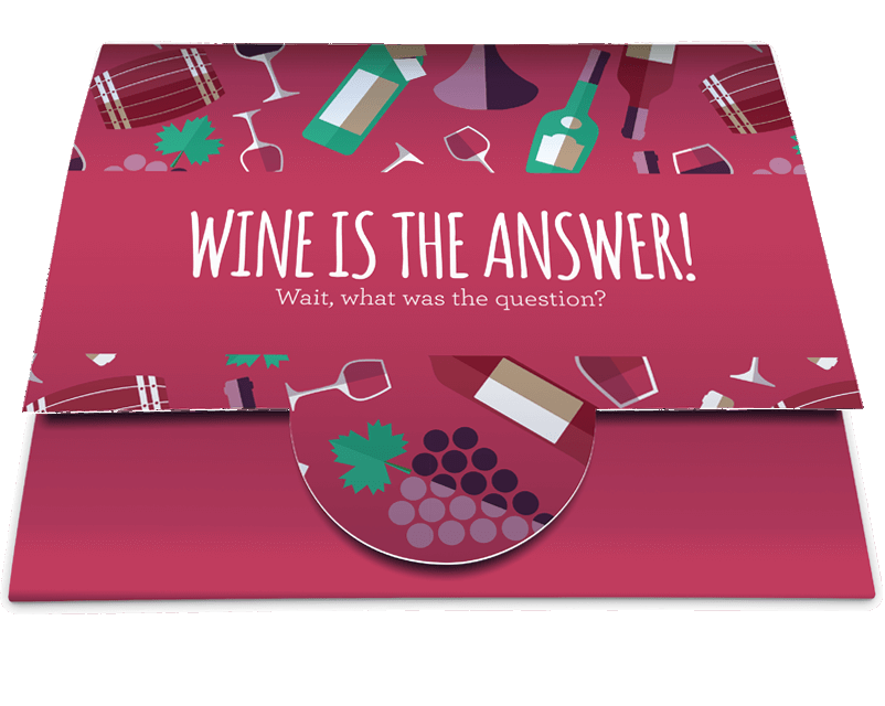 £10 Gift Card with wallet (Wine is the Answer)