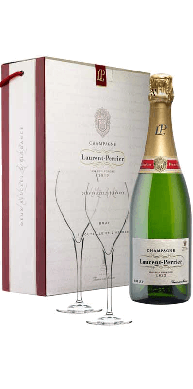 Champagne Laurent Perrier Brut In Gift Box With 2 Glasses
