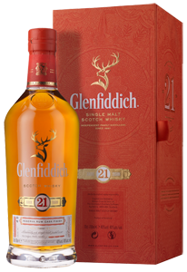 Glenfiddich 21-year-old Single Malt Scotch Whisky (70cl in gift box)