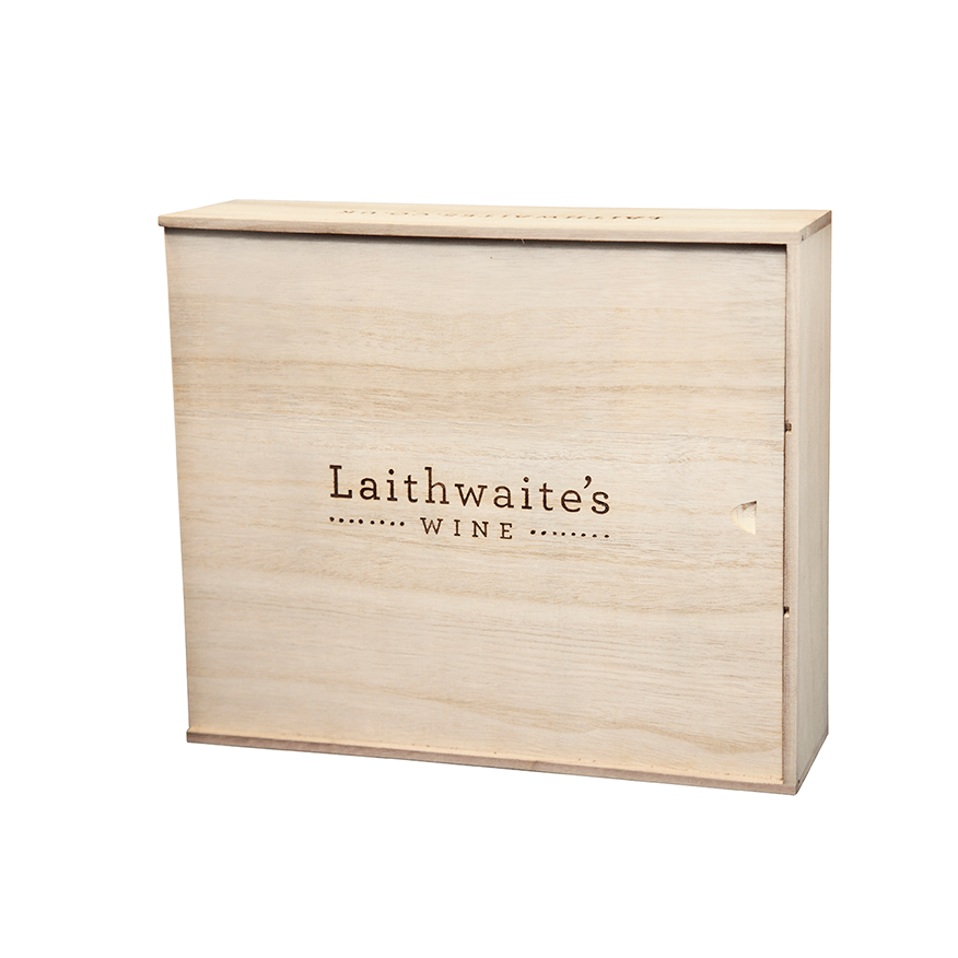 3 bottle wine box (wood)