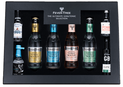 Fever-Tree Craft Gin Experience Gift Pack (4x20cl Tonics 4x5cl Gins)