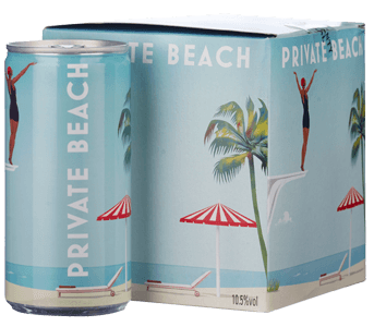 Private Beach Sparkling Rosé (4 cans x 200ml each) 2019