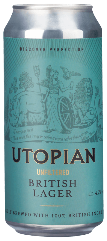 Utopian Unfiltered British Lager NV
