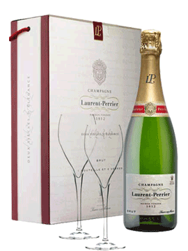 Laurent-Perrier Brut Gift boxed & 2 Glasses
