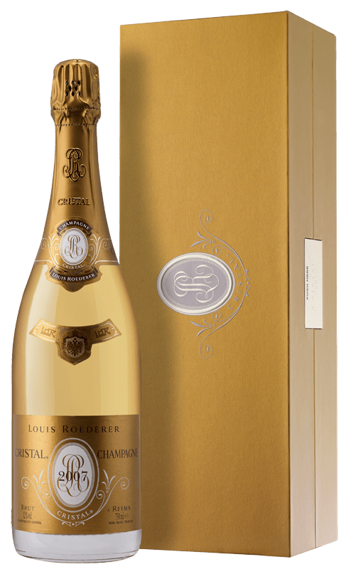 champagne louis roederer cristal brut gift box 2007 laithwaites wine. Black Bedroom Furniture Sets. Home Design Ideas