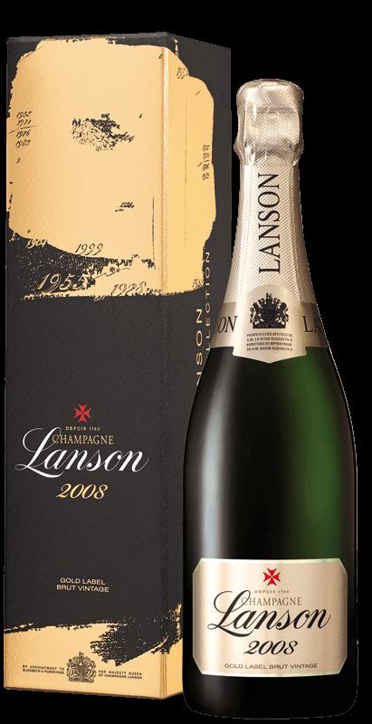 champagne lanson gold label brut vintage in gift box 2008 laithwaites wine. Black Bedroom Furniture Sets. Home Design Ideas