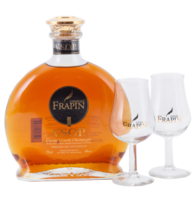 Frapin VSOP Cognac Grande Champagne Gift Set with 2 glasses (70cl bottle) NV