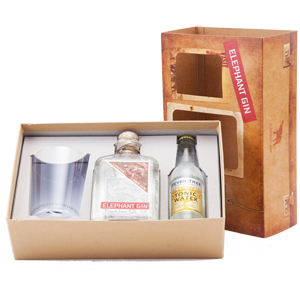 Elephant London Dry Gin Gift Set (50cl bottle)