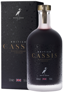 White Heron British Cassis Blackcurrant Liqueur (50cl in gift box)