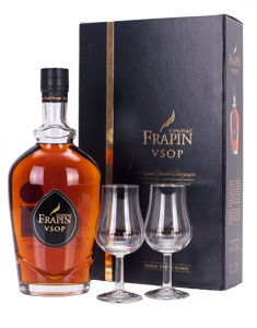 Frapin VSOP Cognac Grande Champagne Gift Set with 2 glasses (70cl bottle)