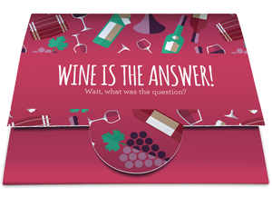 Gift Card with card wallet: Wine is the answer