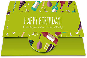 Gift Card with card wallet: Happy Birthday