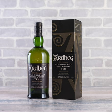 Ardbeg 10-year-old Single Malt Scotch Whisky Gift NV