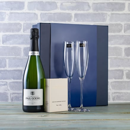 Champagne Flutes and Truffles Gift Set