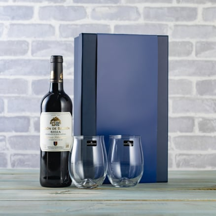Rioja and Glasses Gift Set