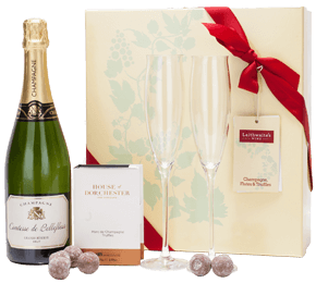 Champagne, Flutes and Truffles Gift Set