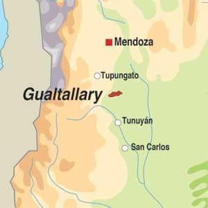 Map showing Mendoza
