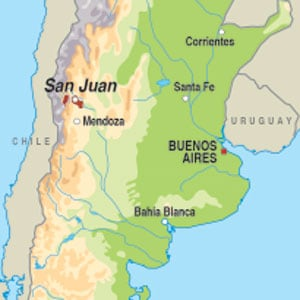 Map showing San Juan