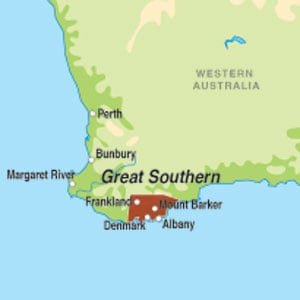 Map showing Great Southern