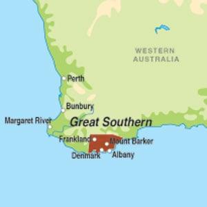 Map showing Western Australia